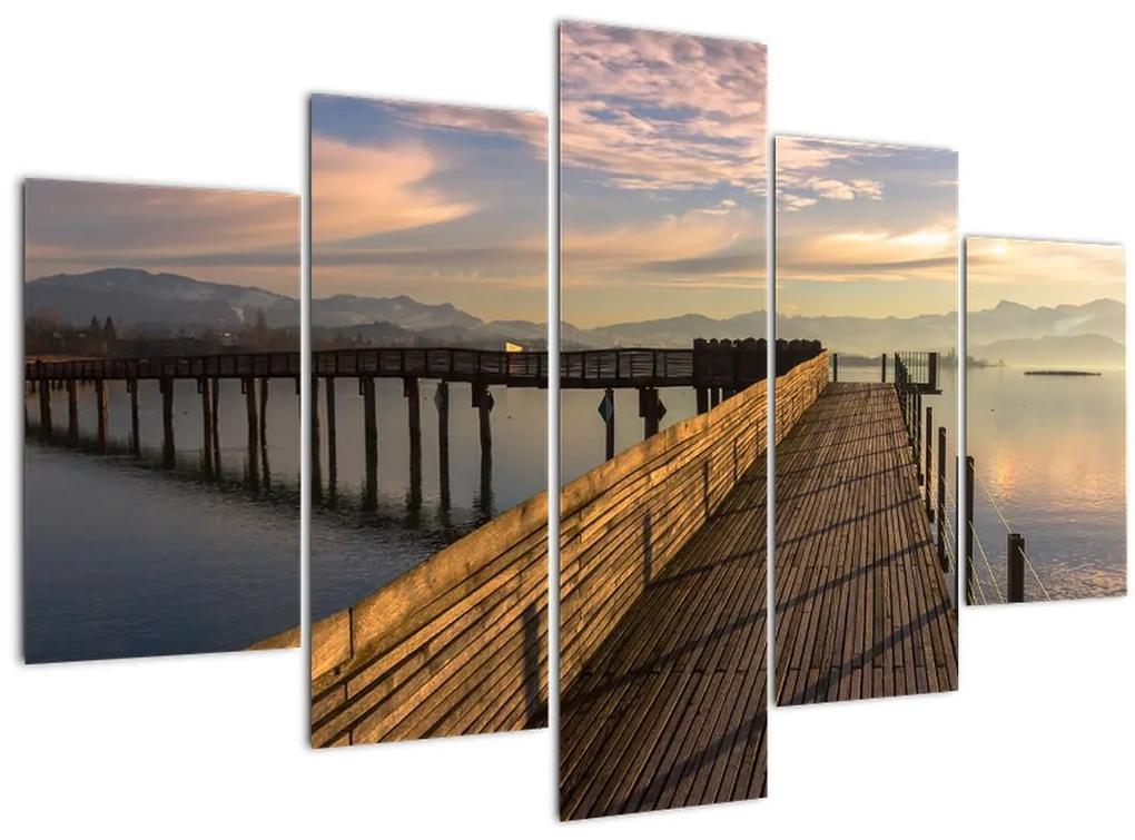 Kép - Az Obersee-tó partján (150x105 cm)