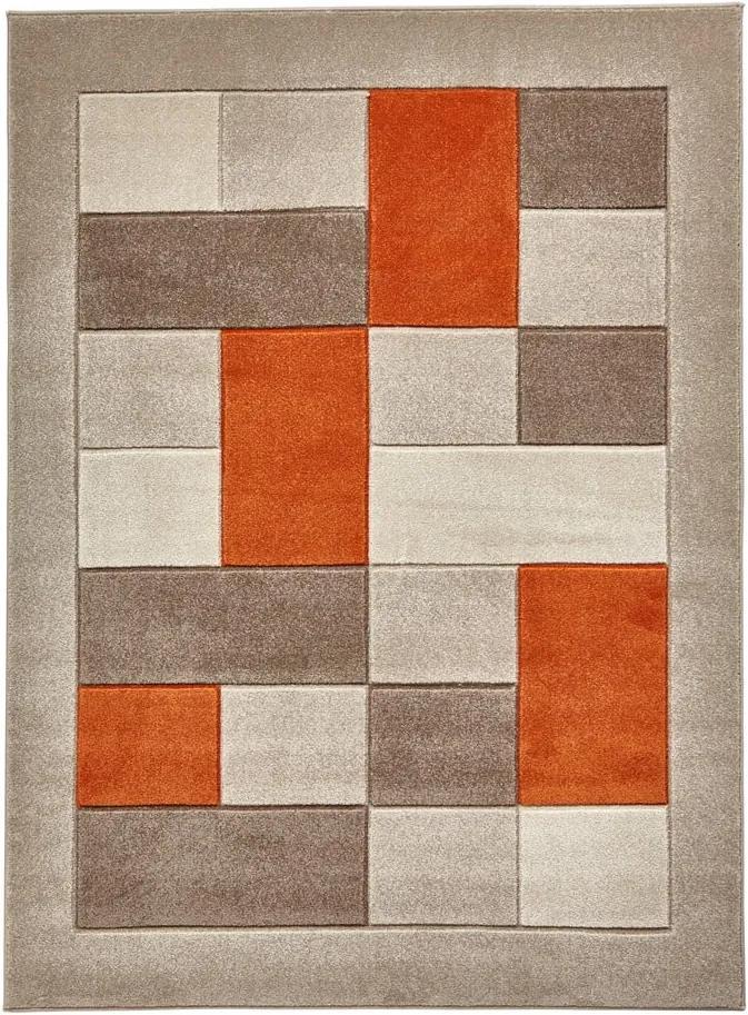Matrix bézs-narancssárga szőnyeg, 60 x 120 cm - Think Rugs