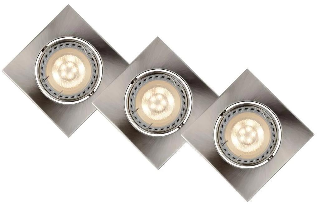Lucide Lucide 11002/15/12 - Készlet 3x LED beépíthető lámpa FOCUS 3xGU10/5W/230V króm LC1084