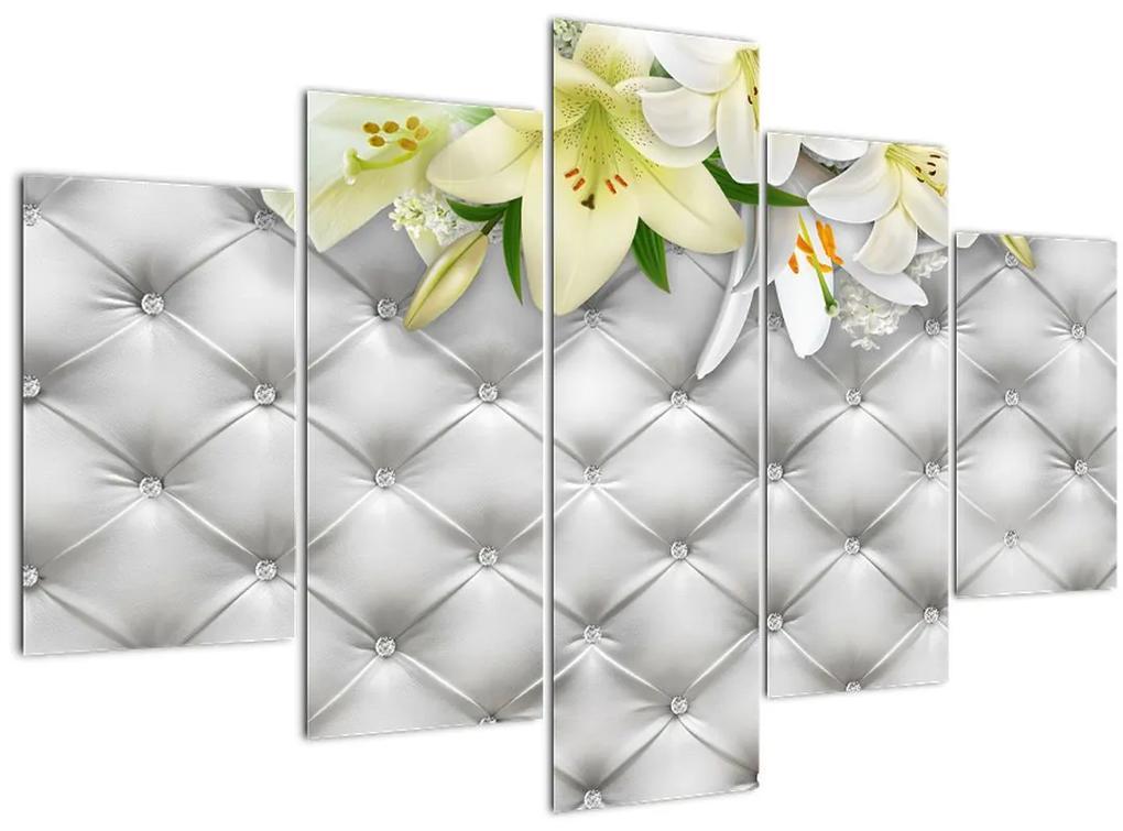 Liliom virágok képe (150x105 cm)