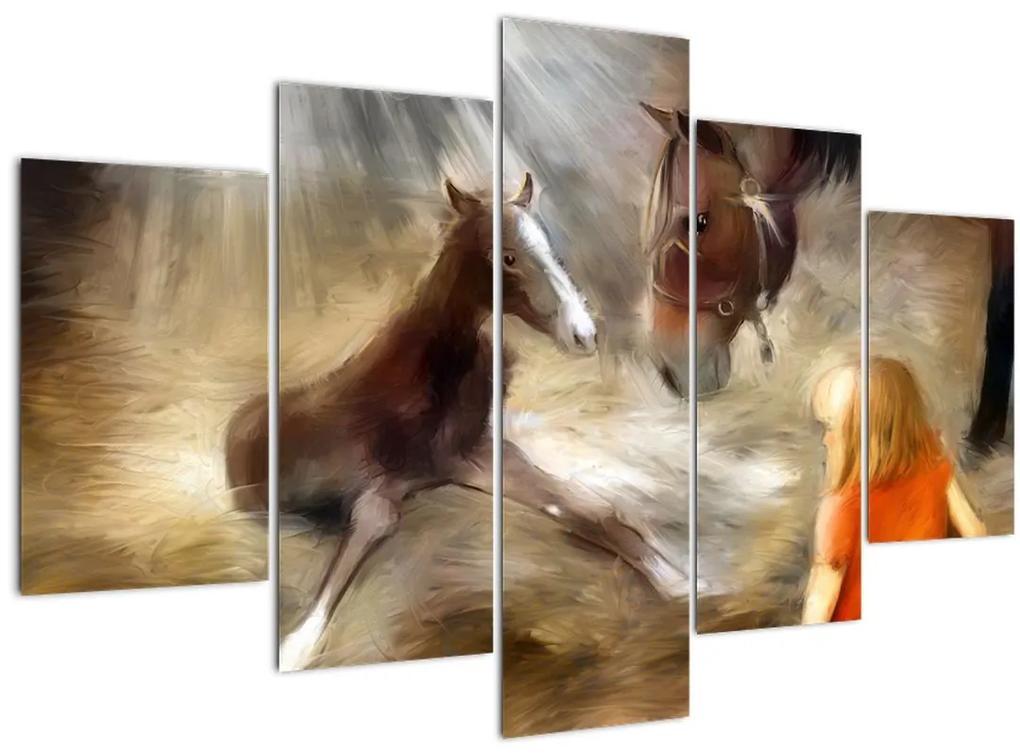 Kép - Üdvözöljük a világban, csikó (150x105 cm)
