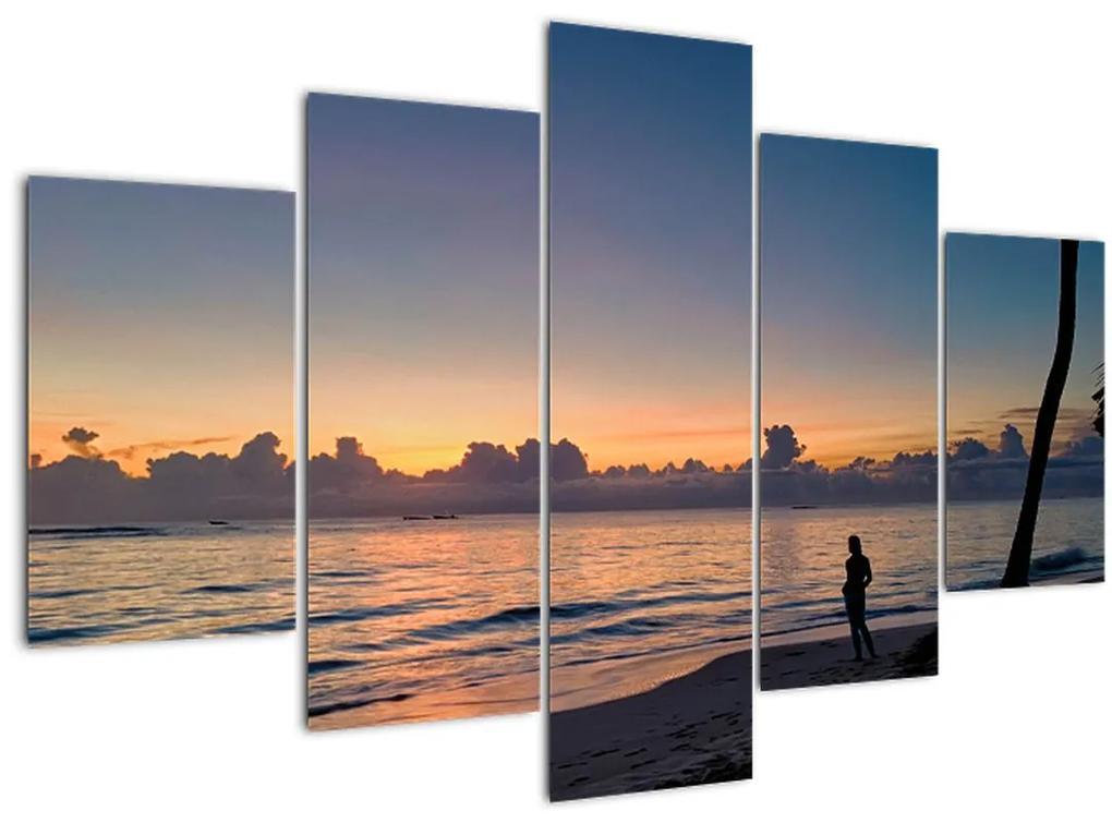 Kép egy nőről a tengerparton (150x105 cm)