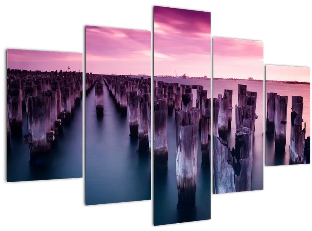 Fa kerekek képe (150x105 cm)