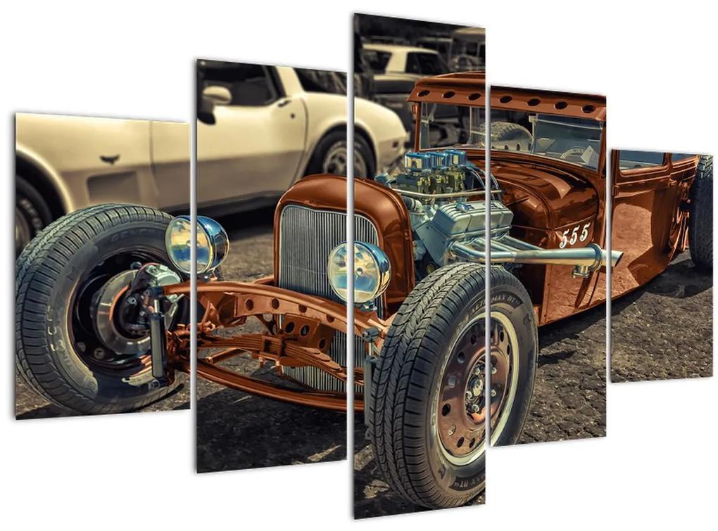 Barna autó képe (150x105 cm)