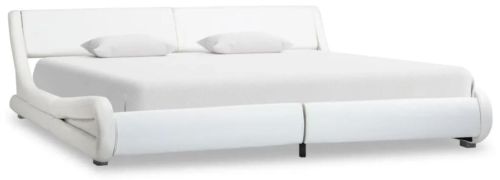 vidaXL fehér műbőr ágykeret 180 x 200 cm