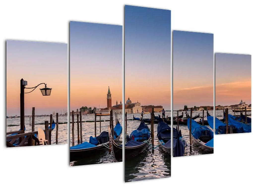 Kép -  olasz gondolák (150x105 cm)