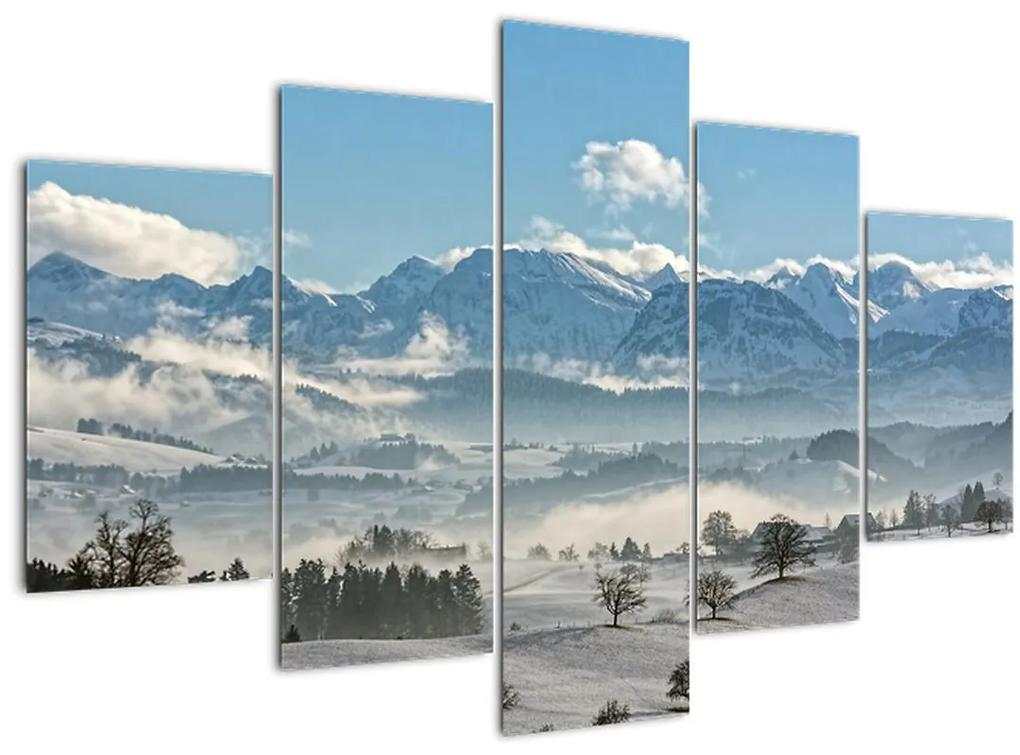 A havas hegyek képe (150x105 cm)
