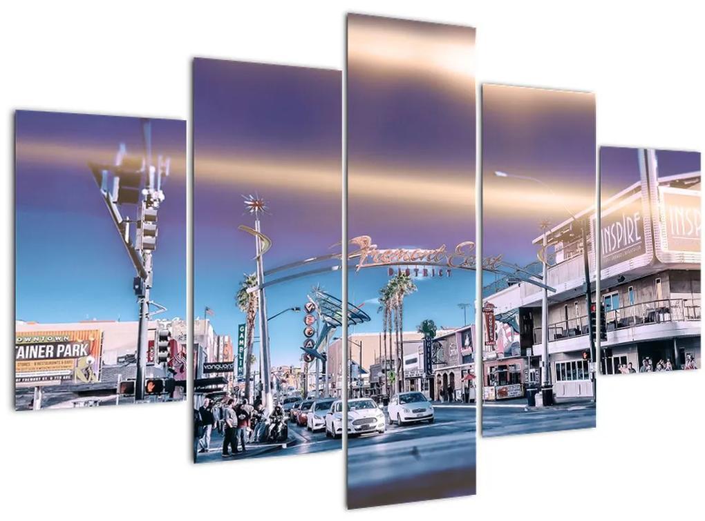 Kép egy utcáról Las Vegasban (150x105 cm)