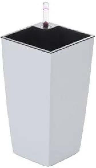 G21 Linea mini önöntöző kaspó, fehér, 26 cm - (6392470)