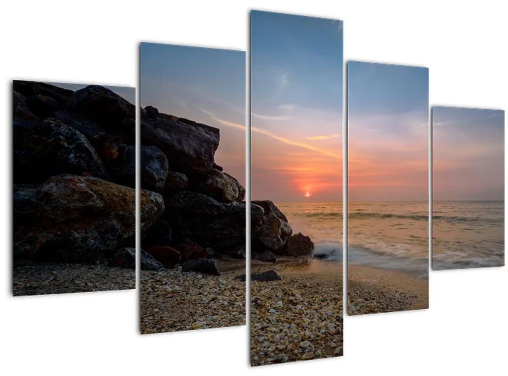 A tengerparton található naplemente képe (150x105 cm)