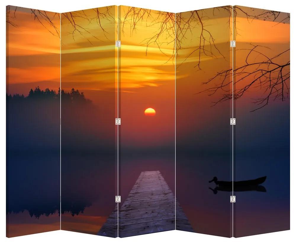 Paraván - Híd naplementekor (225x180 cm)