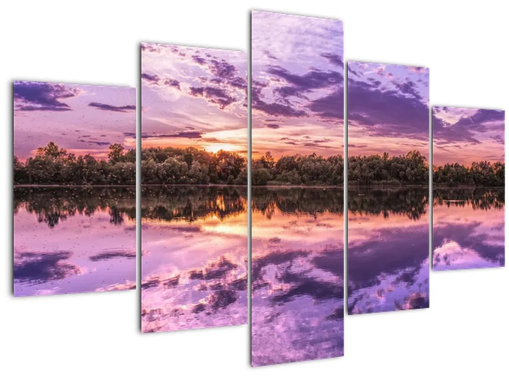 Lila ég képe (150x105 cm)