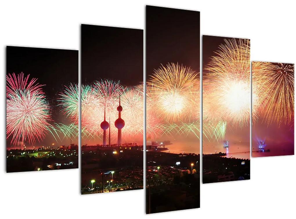 Tűzijáték képe (150x105 cm)