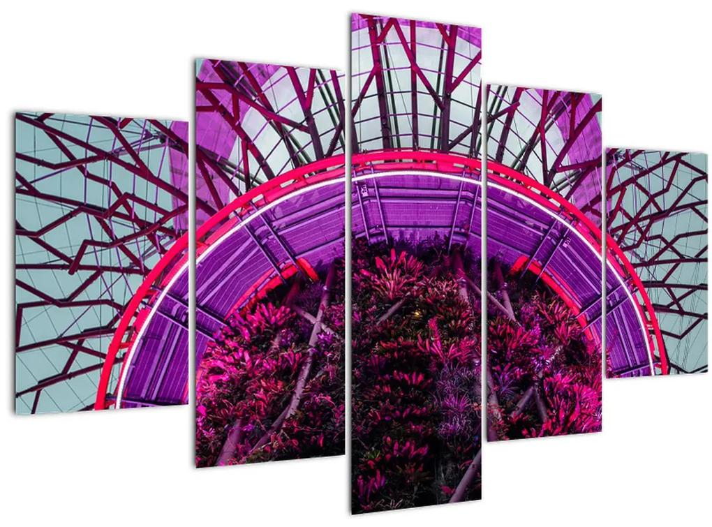 Absztrakt kép - lila ágak (150x105 cm)