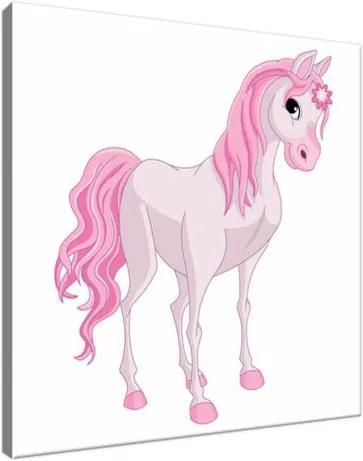 Vászonkép Rózsaszín lovacska 30x30cm 3014A_1AI