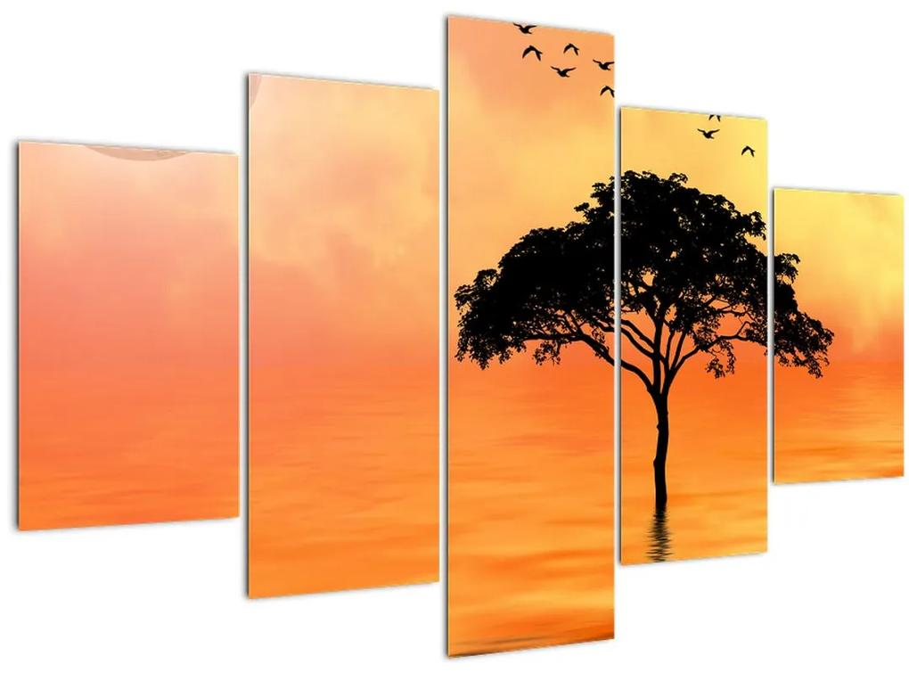 Kép egy fáról naplementekor (150x105 cm)