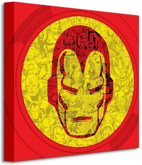 Vászonkép Marvel (Iron Man Helmet Collage) 40x40cm WDC95435
