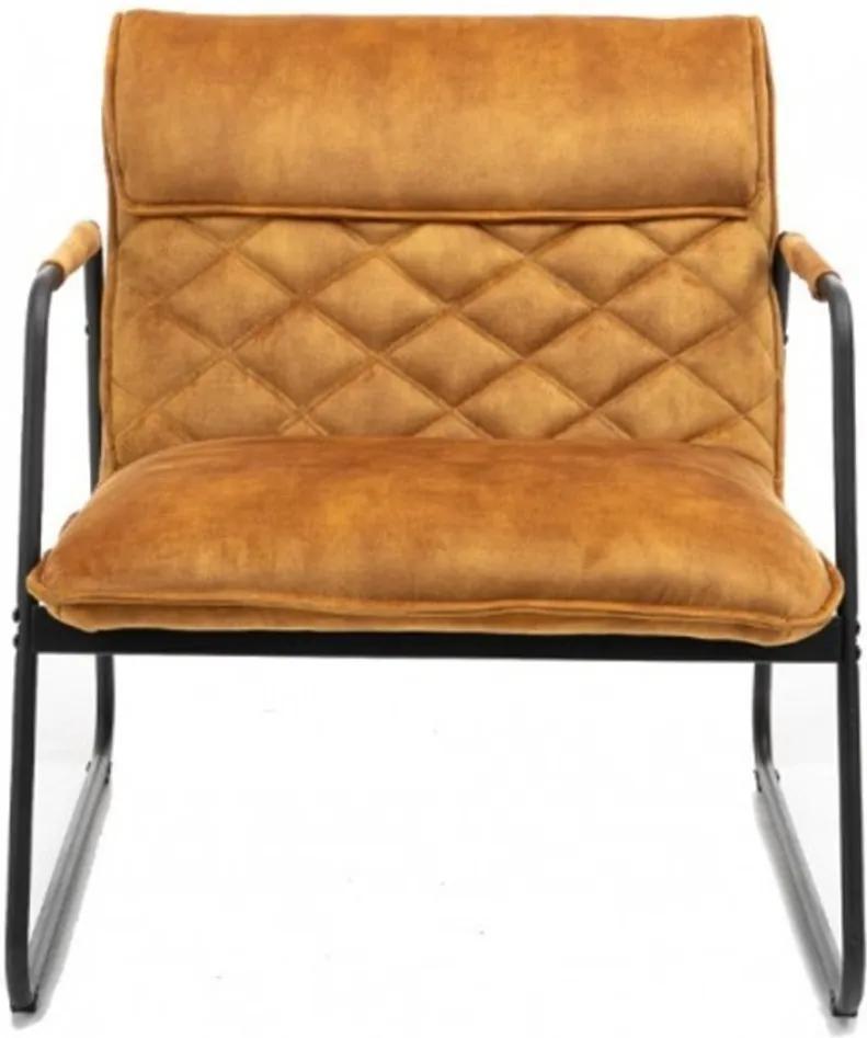 Stílusos fotel Derrick mustársárga bársony