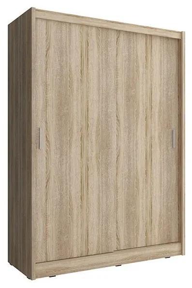 WHITNEY 150 ruhásszekrény, sonoma tölgy, 60x150x200 cm