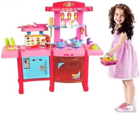 Matex Toys nagy gyerekkonyha kiegészítőkkel, rózsaszín