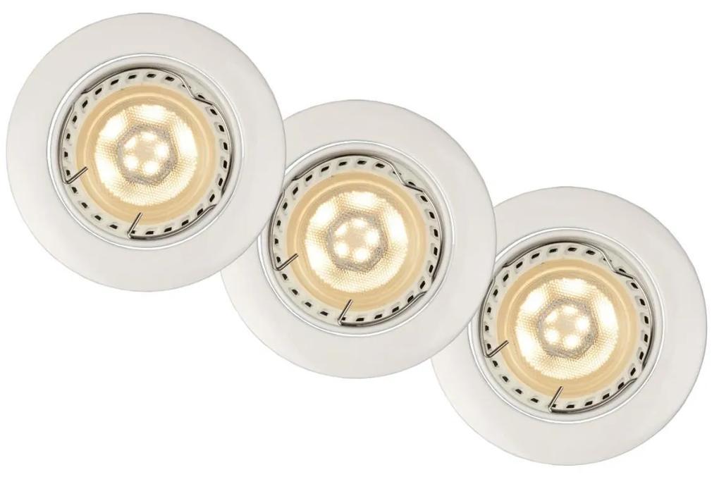 Lucide Lucide 11001/15/31 - Készlet 3x LED beépíthető lámpa FOCUS 3xGU10/5W/230V fehér LC1078