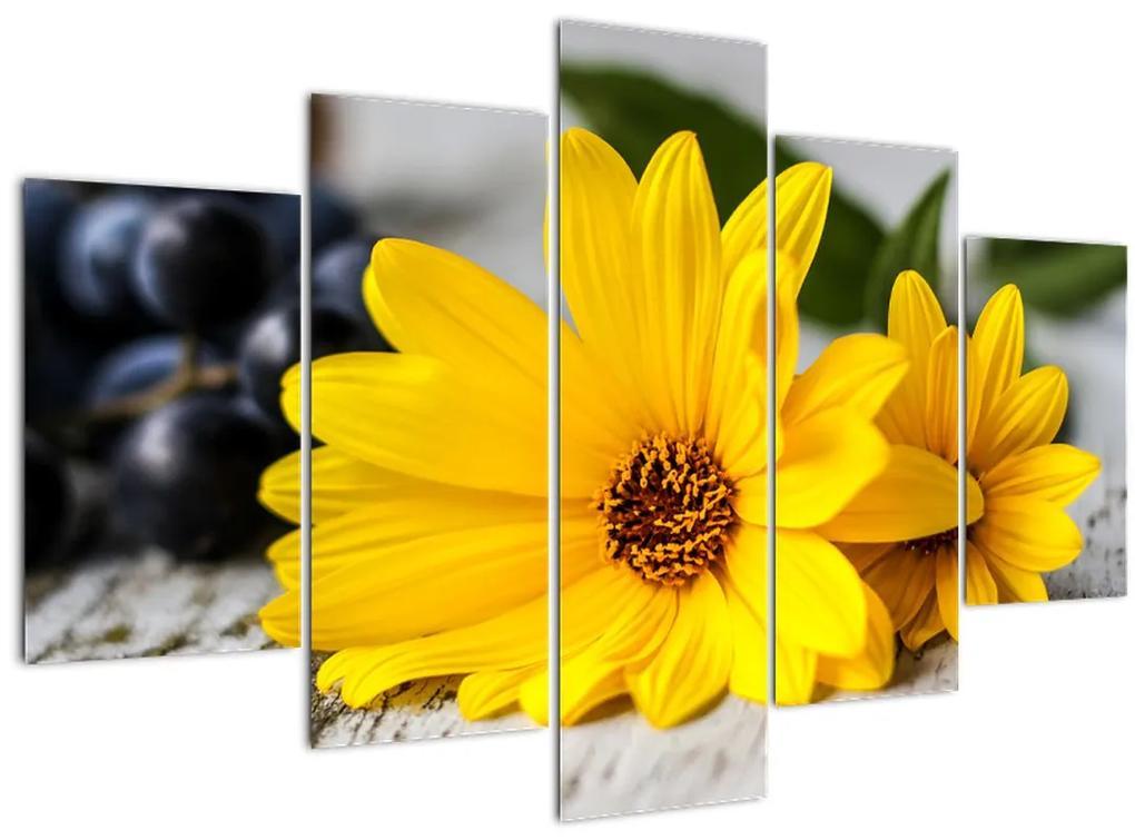 Sárga virágok képe (150x105 cm)