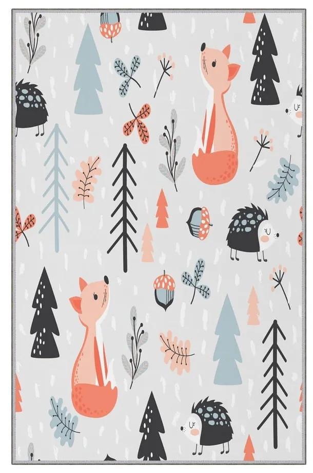Forest csúszásgátlós gyerekszőnyeg, 80 x 120 cm - Homefesto