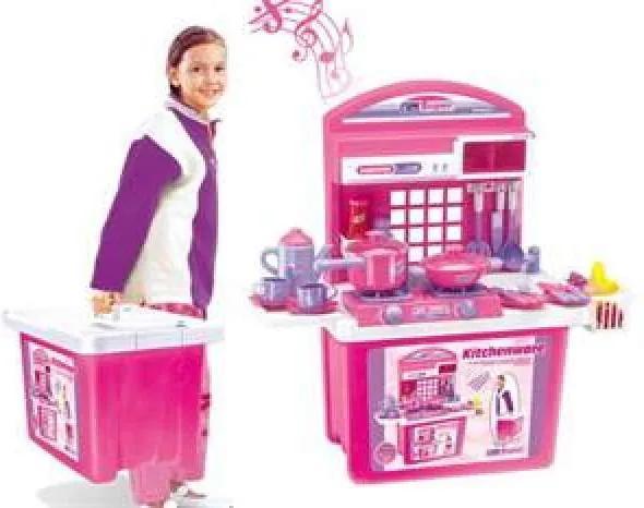 G21 Játék összecsukható konyha - rózsaszín.  - (690677)
