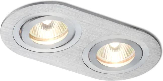 RENDL R10189 BIZZ mennyezeti lámpa, készlet szálcsiszolt alumínium