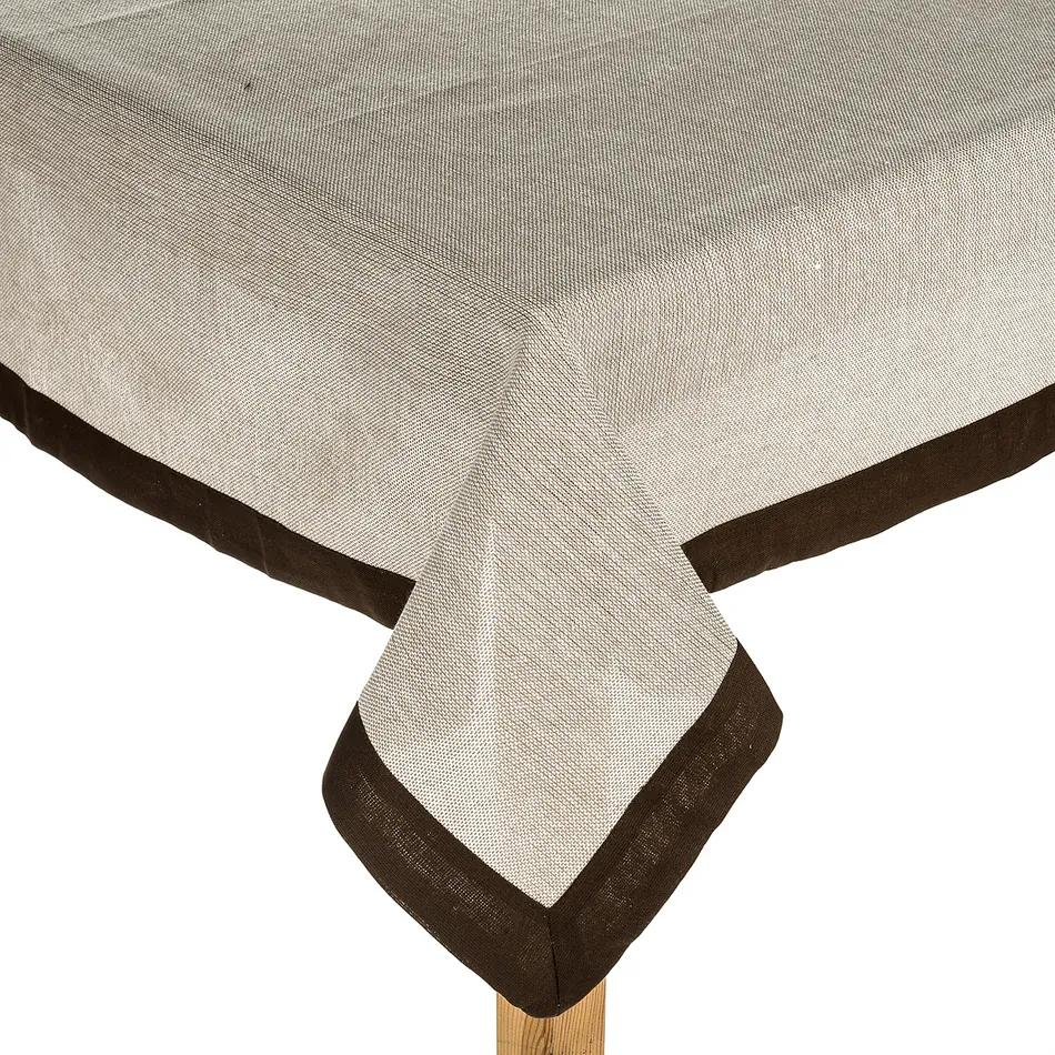 Jahu Vászon terítő barna, 90 x 90 cm