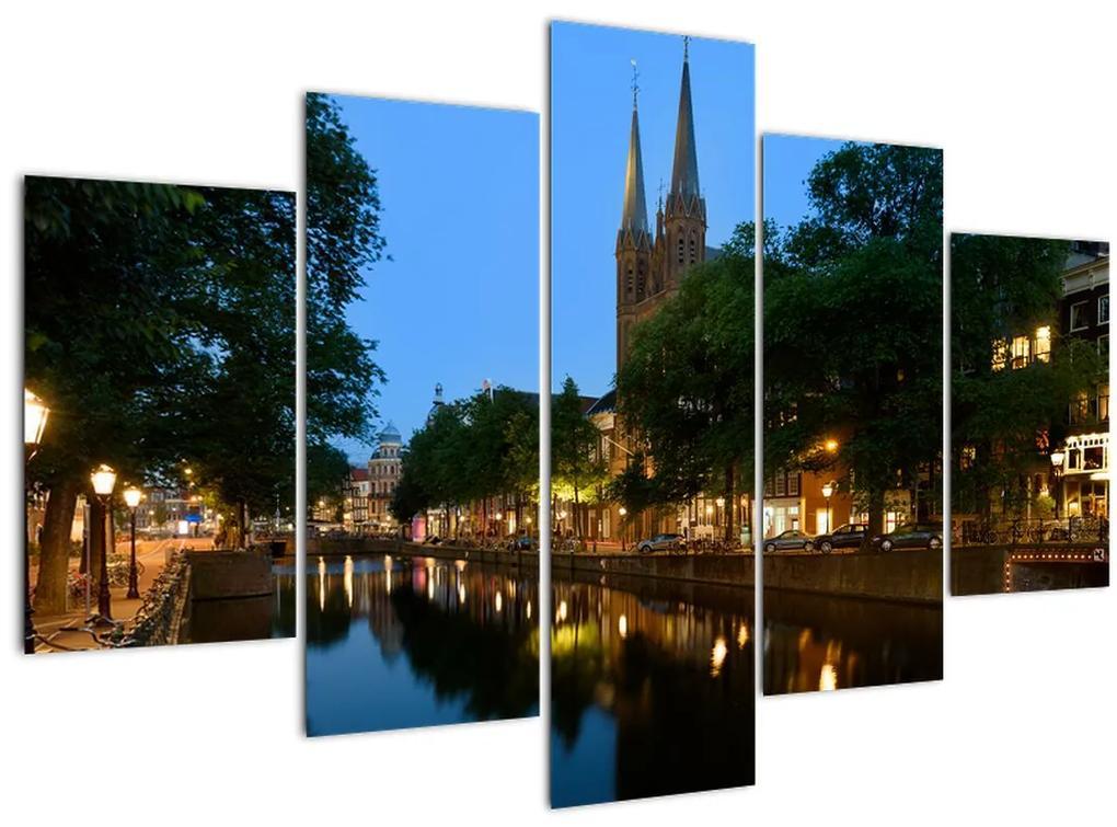 Éjszakai történelmi város képe (150x105 cm)