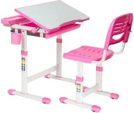 FUN DESK CANTARE Gyerek íróasztal székkel - rózsaszín