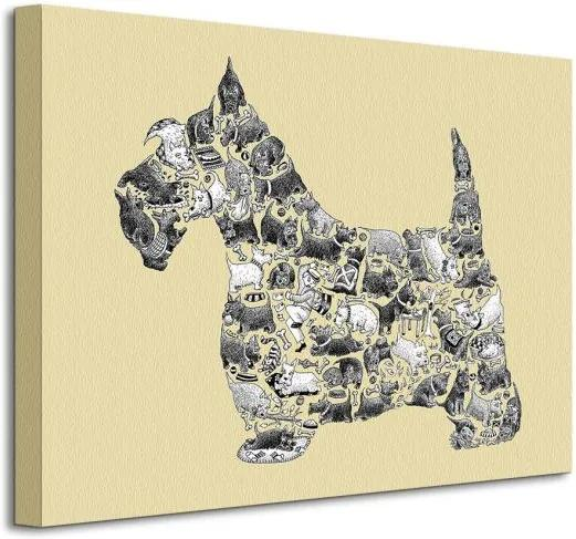 Vászonkép Figyelmes kutya Tate Louise 40x30cm WDC92354