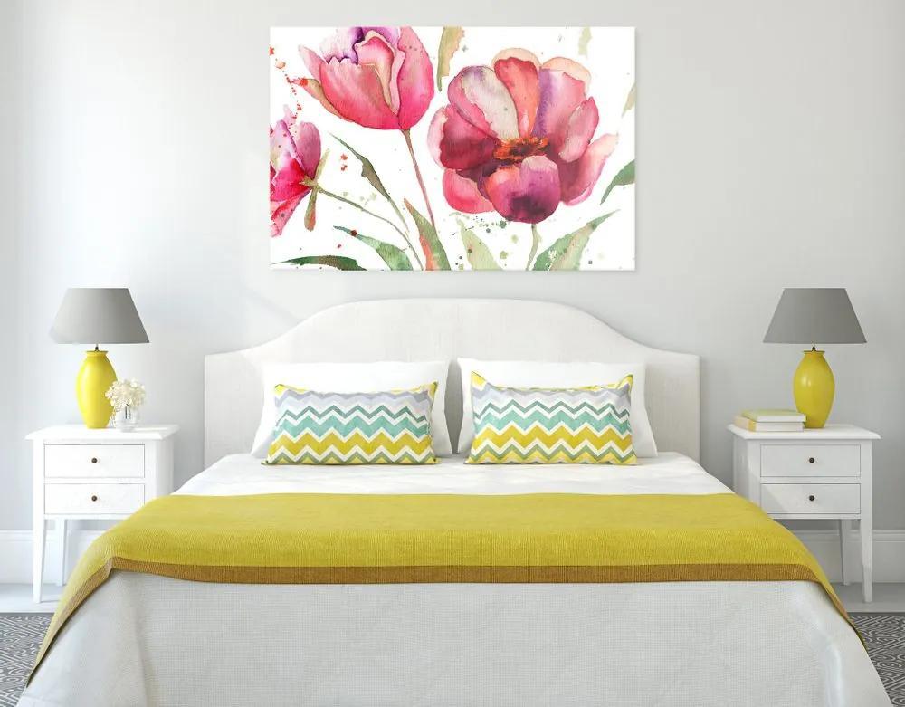 Kép látványos tulipánok érdekes kivitelben