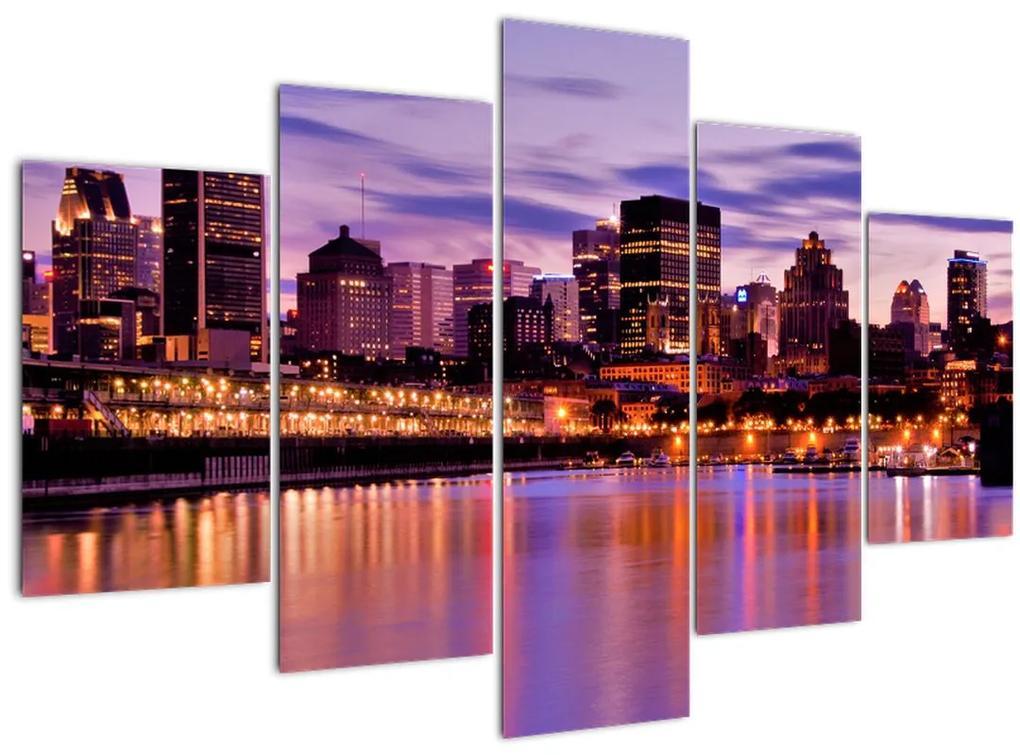 Éjszakai város képe (150x105 cm)