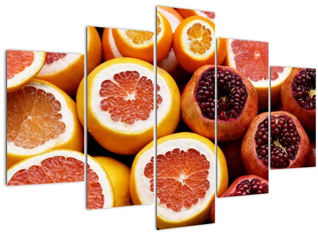 Narancsok és gránátalmák képe (150x105 cm)
