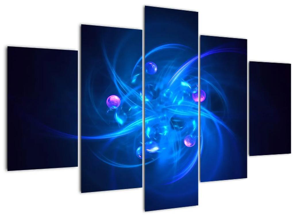 Modern kép kék absztrakció (150x105 cm)