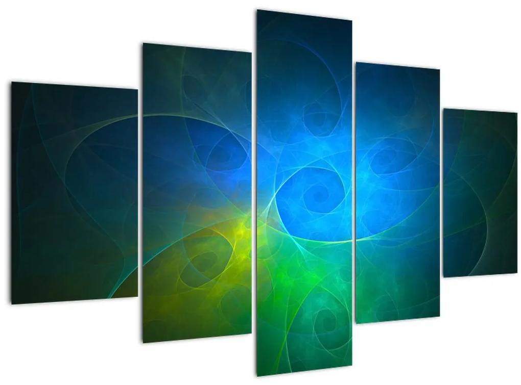 Kék absztrakció képe (150x105 cm)