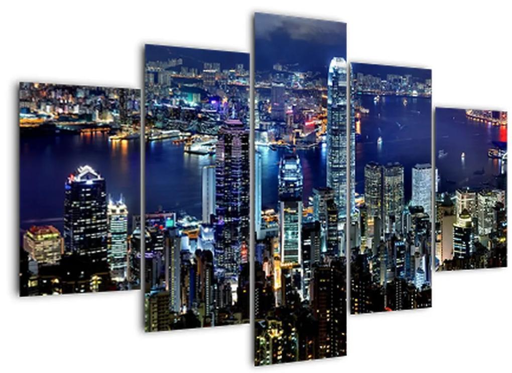 Egy kép a felhőkarcolók éjjel (150x105 cm)