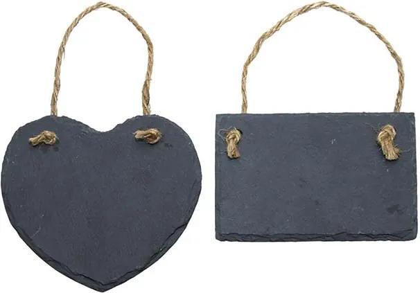 Nagy palatábla, szív és téglalap forma