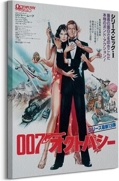 Vászonkép James Bond (Octopussy Foreign Language) 60x80cm WDC99478