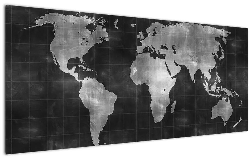 Kép - Világtérkép (120x50 cm)