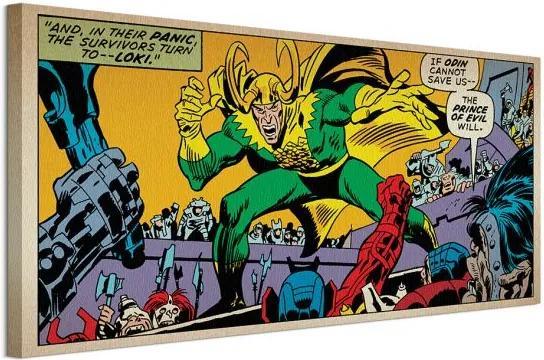 Vászonkép Marvel Comics (Loki Prince Of Evil) 100x50cm WDC93126