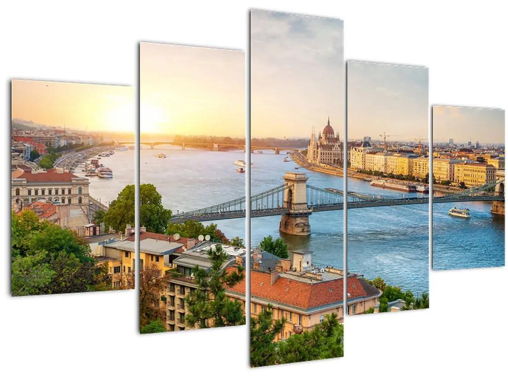 Budapest képe folyóval (150x105 cm)