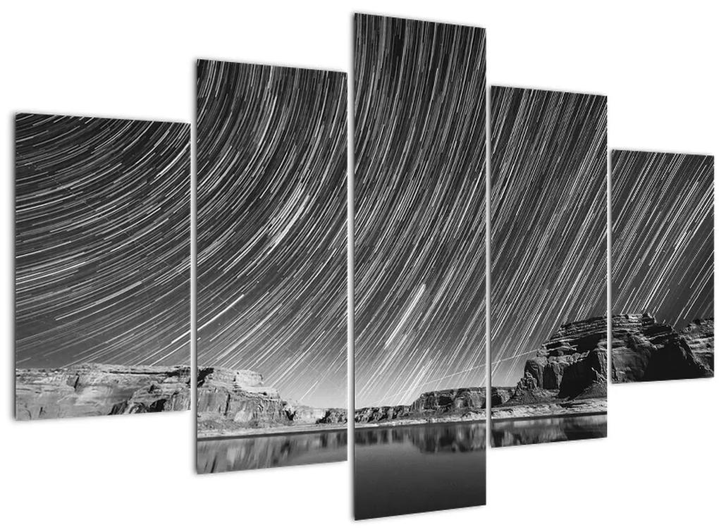 Fekete-fehér kép egy csillagos ég (150x105 cm)