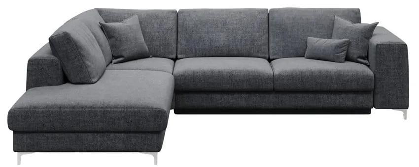 Rothe sötétszürke ötszemélyes kinyitható kanapé, bal oldali - devichy
