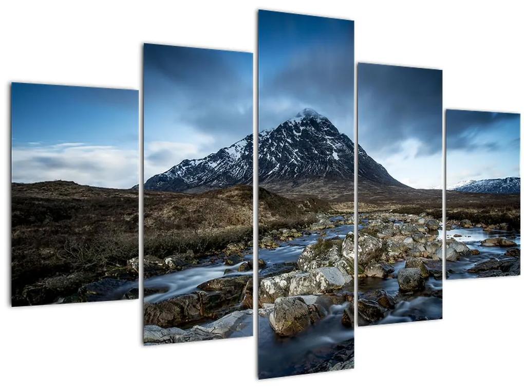 Hegy és a folyó képe (150x105 cm)