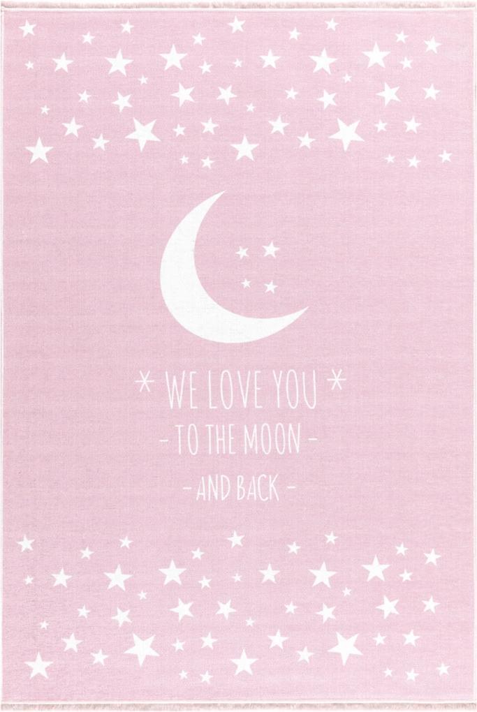 LOVE YOU MOON gyerekszõnyeg rózsaszín