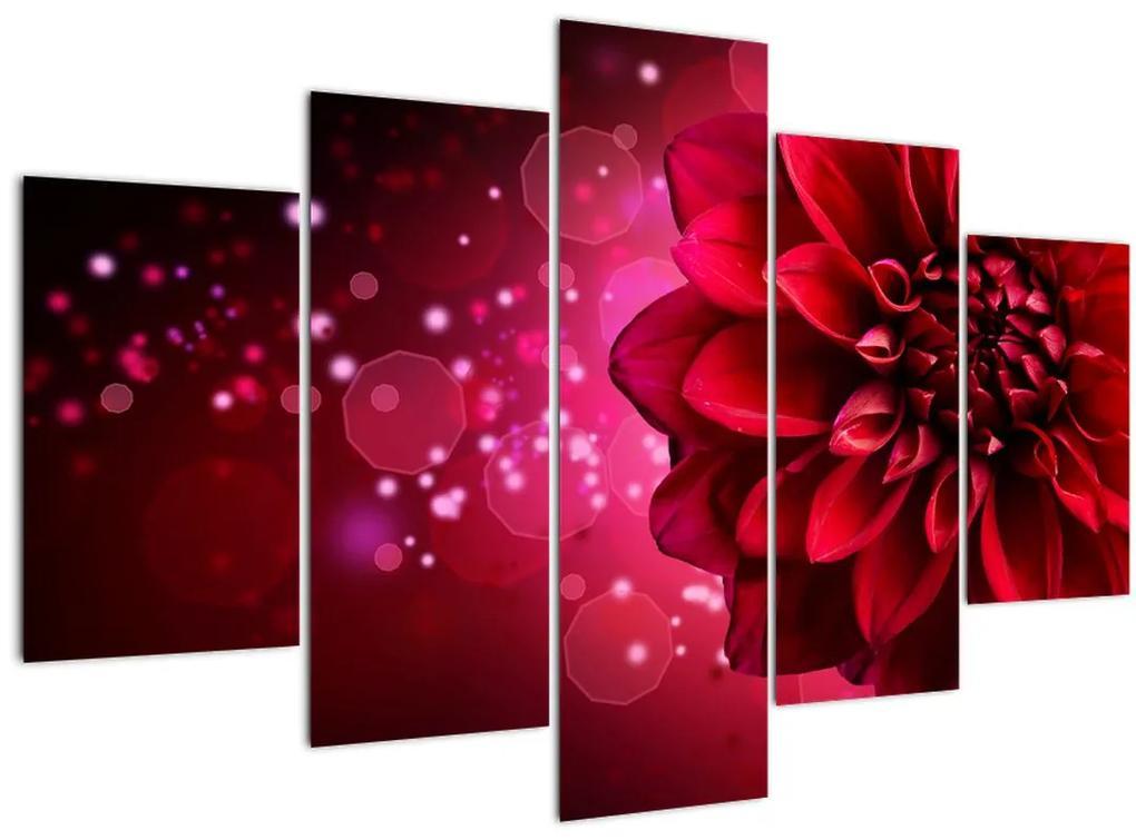 Piros virágok képe (150x105 cm)