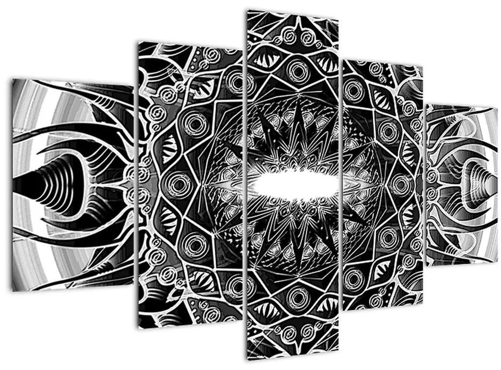 Fekete-fehér díszek képe (150x105 cm)